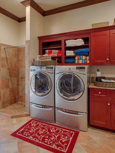 Basement Laundry Design Ideas, Pictures, Remodel and Decor Laundry Room Wall Decor, Basement Laundry, Laundry Room Signs, Small Laundry Rooms, Laundry Room Organization, Laundry In Bathroom, Laundry Closet, Diy Organization, Room Decor