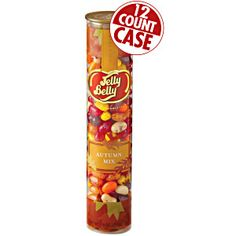 Jelly Belly Autumn Mix in convenient. re-closeable clear tubes! Assorted