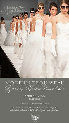Modern Trousseau Bridal and Mother of the bride Trunk Show ...