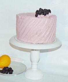 Delicious Lemon blackberry cake with blackberry Italian Meringue Buttercream a from scratch recipe