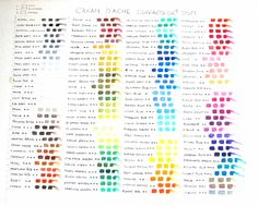 100 colours caran dache - Google Search