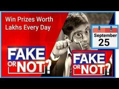 Flipkart Fake Or Not Fake Quiz Answers | 25 September 2020 | Today Fake Or Not Fake Quiz Answers - YouTube