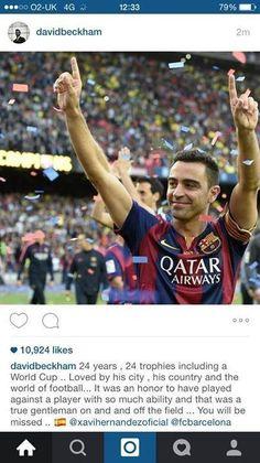 24 lata, 24 trofea w tym Puchar Świata • David Beckham podsumował Xaviego Hernandeza na Instagramie • Będzie nam Ciebie brakowało >>