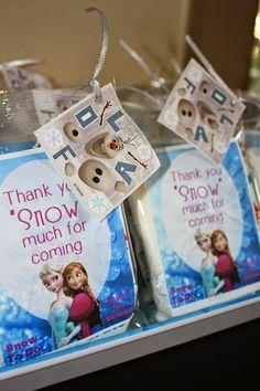 Frozen party favor-cotton candy