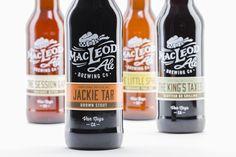 Jeremiah McNulty Design - MacLeod Ale Brewing Co. #Packaging #Design — World Packaging Design Society / 世界包裝設計社會 / Sociedad Mundial de Diseño de Empaques