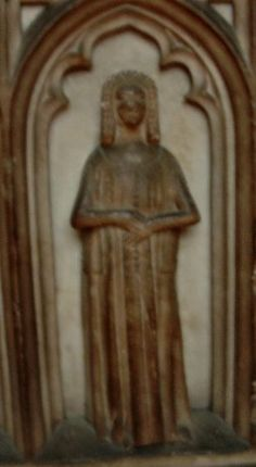 WM2 from St. Mary's in Warwick.  Some kind of open surcote, over a button-front cotehardie?