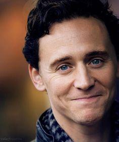 Tom Hiddleston. His eyes..smile..ugh