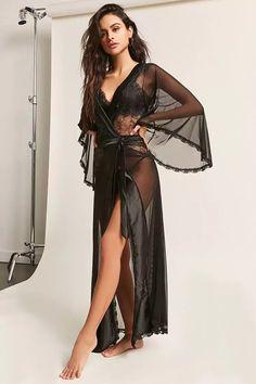 Product Name Oh La La Cheri Sheer Lace Robe   Thong Panty Set 4a07b2fe3