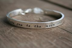 I Love You to the Moon and Back Bracelet  Moonstone by labelledame, $82.00
