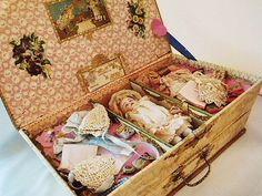 フレンチミニョネット・プレゼンテーションボックス - イギリスとフランスのアンティーク   薔薇と天使のアンティーク   Eglantyne(エグランティーヌ)