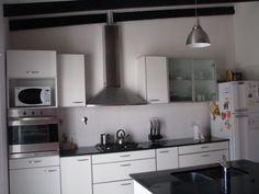 Cocina en Blanco y Negro! Hermosa!