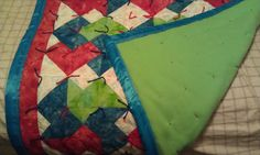 Baby quilt for an adorable baby boy