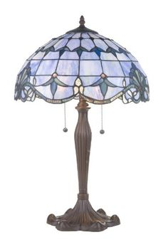 RIVER OF GOODS 4286 BLUE ALISTAR TABLE LAMP - Click image twice for more info - See a larger selection of pull chain table lamps at http://tablelampgallery.com/product-category/pull-chain-table-lamps/ - home, home decor, lamp, lighting , gift ideas.