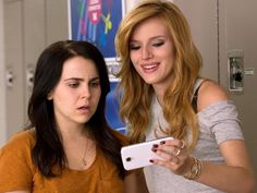 "Mae Whitman (left), with Bella Thorne, is the uncool girl who feels scorned in ""The DUFF."" Photo: Guy D Alema / Guy D. Mae Whitman, Teenage Movie, Teen Movies, Movie Tv, Nicholas Sparks, The Duff Movie, Good Comedy Movies, Fat Friend, Famous Philosophers"