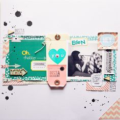 All the little paper bits stitched down on this make me swoon!  want to scraplift for sure