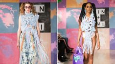 London Fashion Week: Clothes made from recycled plastic Higher Art, London Fashion, Innovation, Recycling, Plastic, Artists, Clothes, Collection, Dresses