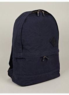 13055a7a8695 Thom Browne Men s Navy Cotton Backpack