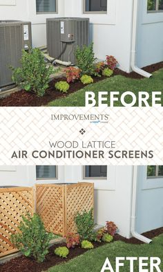 Some things just should not be seen....and an air conditioner unit is one of them. Hide the ugly in your yard with a Wood Lattice Screen