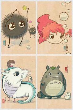 Chibi Ghibli - this is so cute!