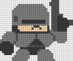 Robocop Perler Bead Pattern / Bead Sprite