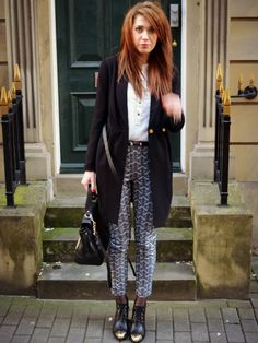 Cigarette  trousers topshop style pattern trousers