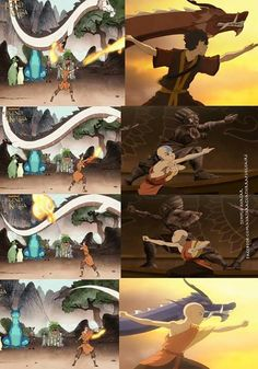 I loved seeing the parallels between these two episodes! Avatar Wan & Avatar Aang + Zuko