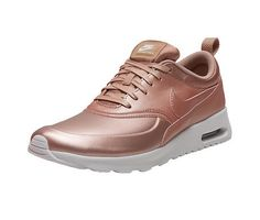 NIKE Air Max Thea SE Made with SWAROVSKI® Crystals. CRYSTAL COLOR: Rose Gold COLOR: Metallic Rose Gold/White | Width - B - Medium FIT: these run 1/2 size smaller, we suggest you order 1/2 size larger than your normal  *these can be custom made with Clear Crystals also, please email me for custom listing   Adorned with the EXCLUSIVE SWAROVSKI® Xirius Rose-Cut 2088 the newest and best cut on the market. All of our Crystals come directly from SWAROVSKI®. SWAROVSKI® Crystals are the Christian…