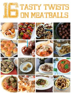 16 Tasty Twists on Meatballs - from quick and easy weeknight dinner recipes to appetizers and snacks!
