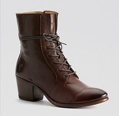 Frye Courtney. Bloomingdales.  http://www1.bloomingdales.com/shop/product/frye-lace-up-booties-courtney?ID=814928&CategoryID=16961&color=Dark%20Brown#fn=spp%3D39%26ppp%3D96%26sp%3D1%26rid%3D%26spc%3D80%26kws%3DFrye%20Shoes