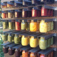 Mason Jars Hangers: Momu0027s Mason Jar Rack