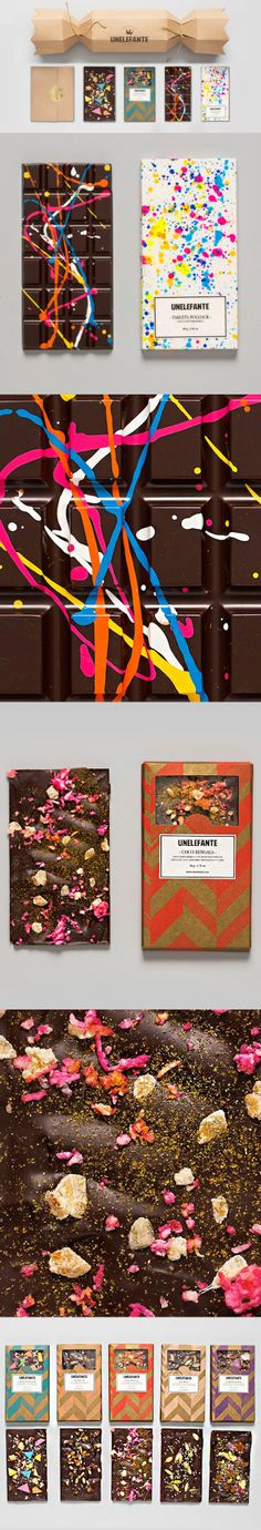 Food and design - the perfect combination!  Creative Chocolate Bar | Unelefante