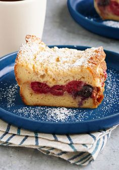 Berry French Toast Bake — Make any occasion more festive with this incredible French toast bake made with layers of Hawaiian bread and berries.