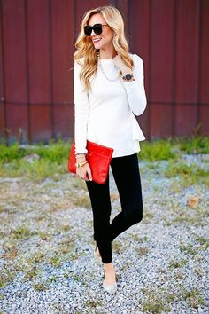 Cute top - love how it cinches in at the waist. Looks chic. Spring Summer Fashion, Spring Outfits, Autumn Fashion, Simple Outfits, Casual Outfits, Cute Outfits, Casual Dressy, Look 2018, Southern Fashion