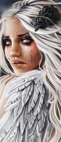 53 Ideas dark art inspiration beauty for 2019 Fantasy Kunst, 3d Fantasy, Dark Fantasy, Gothic Fantasy Art, Chicano Art, Angels And Demons, Fallen Angels, Dark Angels, Mythical Creatures