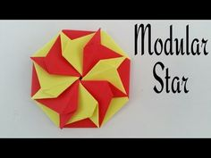 """How to do a Easy Paper """"Modular Agni Star - Star of Fire """" - Decorative Origami Tutorial. - YouTube"""