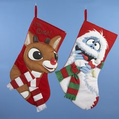 #RUDOLPH THE RED NOSE REINDEER® AND BUMBLE APPLIQUE #STOCKING -  # RU7121