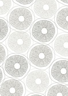 Sarah Renwick. Like the muted greys used here and how a natural form can be used to create a simple repeating pattern.