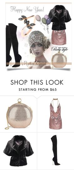 """""""So Pretty: Rose Gold Jewelry"""" by kari-c ❤ liked on Polyvore featuring Halston Heritage, Casadei, Latelita and rosegold"""