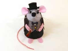 Winston Churchill Mouse Ornament Artisan British politician felt rat mice hamster cute adorable mouse war English England Great Britain by The House of Mouse #mouse #mice #rat #rodent #Cute #animal #adorable #ornament #collectable #etsy #etsyseller #etsystore #etsyshop #handmade #artisan #art  #funny #humour #fun #thehouseofmouse #houseofmouse #gift #winstonchurchill #UK #primeminister
