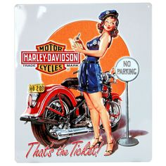 Vintage Sign Shack - Harley Davidson Ticket Babe Sign, $15.95 (http://www.vintagesignshack.com/harley-davidson-ticket-babe-sign.html)