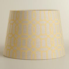 World Market Lamp Shades Gray & Yellow Flower Accent Lamp Shade  Grey Lamps World Market