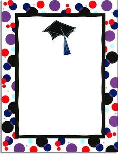 Graduation Clip Art, Graduation Decorations, School Decorations, Invitation Cards, Invitations, Fish Template, Kindergarten Graduation, Borders And Frames, Frame Clipart