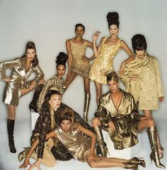 Vogue Italia, September 1994 Models : Gretha Cavazzoni, Carla Bruni, Nadege du Bospertus & others