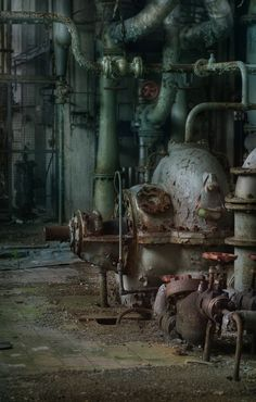 Abandoned power plant. You wonder what kind of Toxic materials were also left behind.
