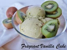 Fragrant Vanilla Cake: Raw Kiwilicious Ice Cream