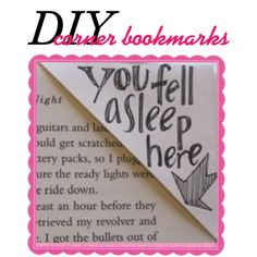 Do it Yourself Corner Bookmarks...the directions are in the description! This is a cute idea for a bookworm...like me. :)