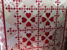 Nine patch & Hearts by Jessica's Quilting Studio, via Flickr