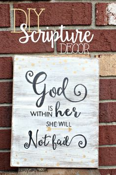 DIY SCRIPTURE DECOR