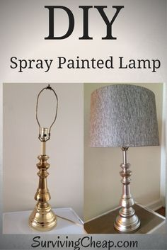How to step buy step guide to DIY refurbish a metal lamp with spray paint.