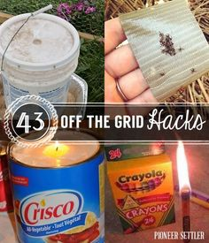 Living off the grid tips & ideas…